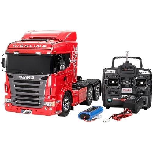 타미야 1/14 RC빅 트럭 시리즈 No.22 스카 니어 R620 6×4 하이 라인 풀 오퍼레이션 세트 (4채널 프로 포,배터리,충전기 부착) 라디오 컨트롤 56322-56322-000 (2009-04-25)