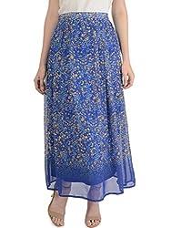 Bonhomie Women Skirts [BCQSB48_R.Blue Print_Extra Large]
