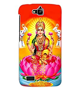 ColourCraft Maa Laxmi Design Back Case Cover for HUAWEI HONOR HOLLY