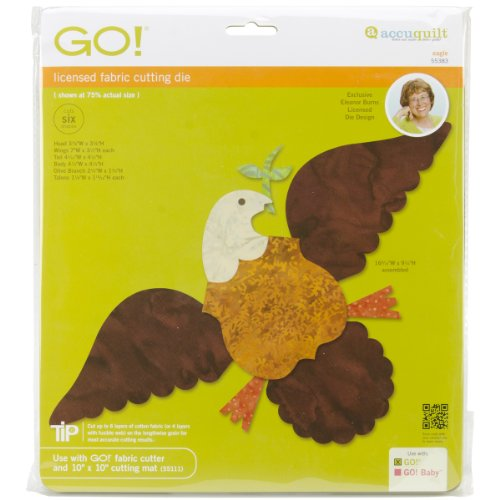 Accuquilt Go! It Fits! Fabric Cutting Dies: Eagle front-51718
