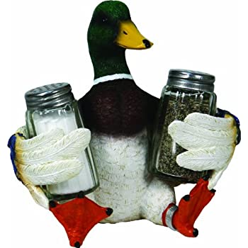 Set A Shopping Price Drop Alert For River's Edge Beautiful Hand Painted Poly Resin Duck Salt & Pepper Shaker Set