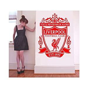Large Liverpool FC vinyl wall art sticker 60cm x 75cm (600mm x 750mm)