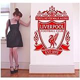 Large Liverpool FC vinyl wall art sticker 60cm x 75cm (600mm x 750mm)