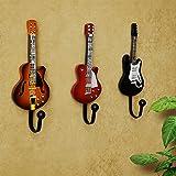 Vintage vêtements décoratifs crochet mural crochet patères supports film guitare , 1