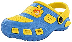 Phonix Unisex Kids Blue and Yellow Synthetic Crocs - 6 UK