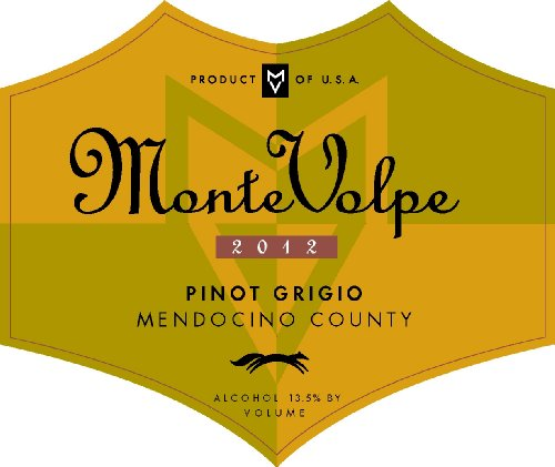2012 Monte Volpe Pinot Grigio 750 Ml