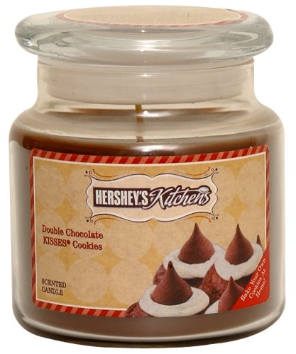 Hershey's by Hanna's Candle 16-Ounce Kitchen Kisses Double Chocolate Cookies Candle