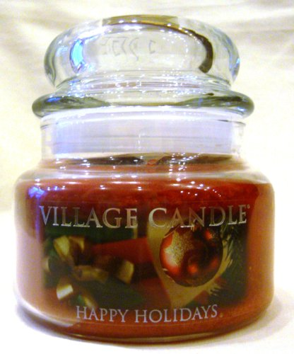 11 Oz Happy Holidays Scented Village Candle
