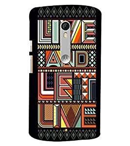Blue Throat Live And Let Live Printed Designer Back Cover/Case For Moto X Style