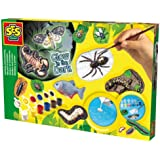SES Creative Children's Scary Animals Glow In The Dark Casting and Painting Set