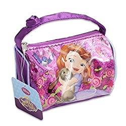 Disney Sofia the First SEQUINS Mini handbag, Purse W/Flower ON HANDLE