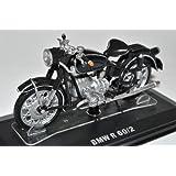 BMW R60/2 Schwarz 1/24 Modellcarsonline Modell Motorrad mit oder ohne individiuellem Wunschkennzeichen