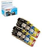 Toner Clinic ® TC-LC6110PK Inkjet Cartridge for Brother LC-61 LC-65 MFC-250C MFC-255CW MFC-290C MFC-295CN MFC-490CW MFC-495CW MFC-5490CN MFC-6890CDW MFC-790CW MFC-795CW MFC-990CW MFC-J220 MFC-J265w MFC-J270W MFC-J410W MFC-J415W MFC-J615W MFC-J630W