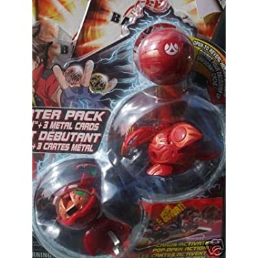 Bakugan Red Pyrus Stinglash Skyress Mystery Starter Pack