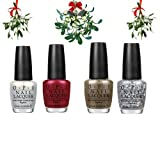 OPI Nail Polish Set Of 4 - Mariah Carey Holiday Collection 2013 - (Set 1) includes 'All I Want For Christmas (Is OPI)', My Favourite Ornament', I Snow You Love Me' and 'Ski Slope Sweetie' 4 x 15ml