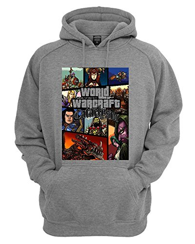 World Of Warcraft Cataclysm GTA Parody Fan Art Unisex Felpa con Cappuccio Medium
