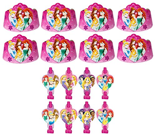 Disney-Princess-Birthday-Party-Favors-Pack-Including-Blowouts-and-Party-Hats-Princess-Tiaras-8-Guests