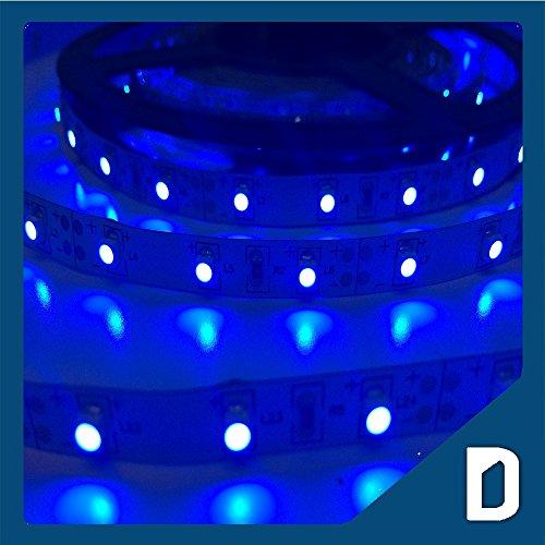 24W 16.4 Ft Led Smd 3528 Flexible Strip - 300 Leds - 12V 2A - Blue - Lighting Smd3528