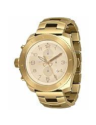 Vestal Men's RES003 Restrictor All Gold Chronograph Dive Watch