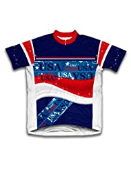 Usa Short Sleeve Cycling Jersey for Women