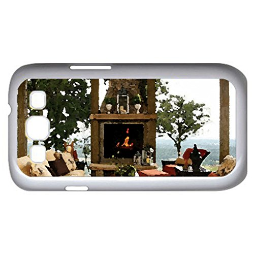 outdoor living design (Houses Series) Watercolor style  Case Cover For Samsung Galaxy S3 i9300 (White) Picture