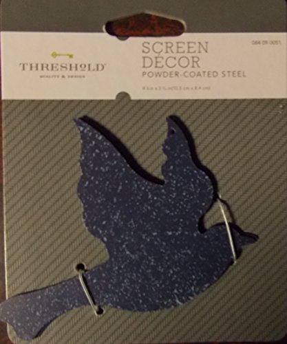 Screen Door Decor Blue Bird Powder Coated Steel Hardware