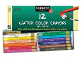 Sargent Art 22-1112 12-Count Water Color-Crayons with Brush