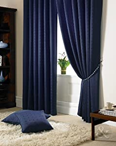 HEAVY JACQUARD CURTAINS Ready Made Pencil Pleat Fully