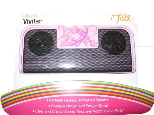 Pink iTilt Portable Desktop MP3 / iPod Speaker VStyle by Vivitar - 1