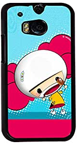 PrintVisa Cartoon Cute Girl Case Cover for HTC One M8