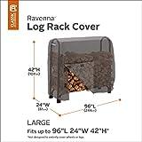 Classic Accessories 55-172-045101-EC Ravenna Log Rack Cover, 8-Feet, Taupe