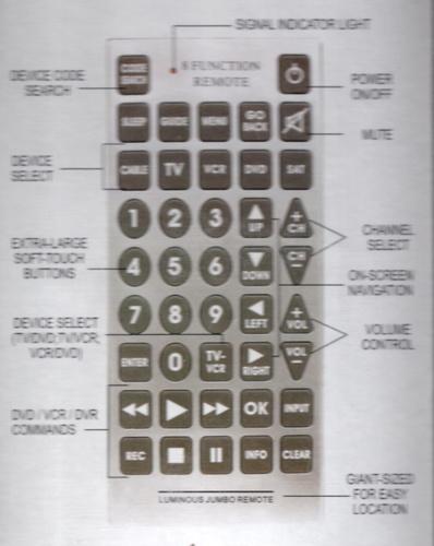 jumbo universal remote instructions