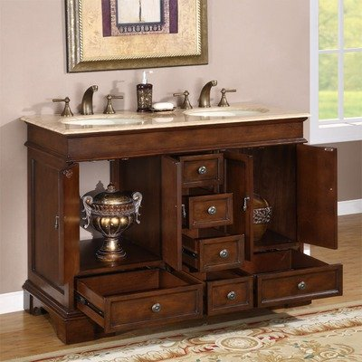 Discount Bathroom Vanities 48 Bradford Bathroom Vanity Double Sink Cabinet Vanity Top Finish