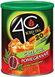 4C Iced Tea Mix Green Tea Pomagranate Antioxidant, (20-Quarts) 53-Ounce Canisters (Pack of 3)