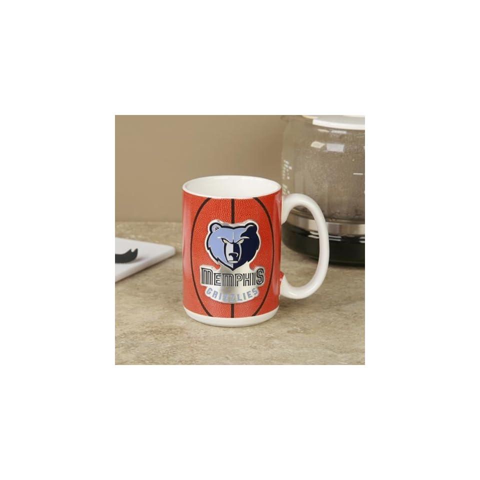 Memphis Grizzlies Pewter Logo Basketball Coffee Mug
