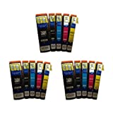 3x Complete Sets of 5 Compatible T2636 (15x CARTRIDGES!) Polar Bear (26XL Series) Multipack (INCLUDES 2x T2621 Black, 2x T2632 Cyan, 2x T2633 Magenta, 2x T2634 Yellow, 2x T2631 Photo Black) High Capacity XL Ink Cartridges For EPSON Expression Premium XP6