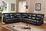 Kings Brand Black Leather Motion Reclining Sectional. Sofa, Loveseat & Wedge Living Room Set