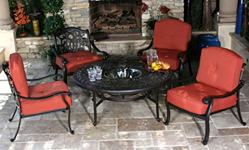 Mahimaa 4-Person Cast Aluminum Patio Conversation Set