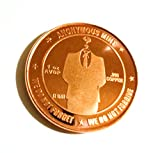 The Faceless Man Anonymous 1 Oz .999 Copper Commemorative Bitcoin Coin