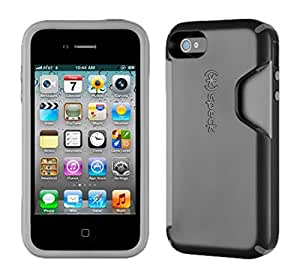 Speck Products CandyShell Card Case for iPhone 4/4S - 1 Pack - Carrying Case  - Black/Dark Grey
