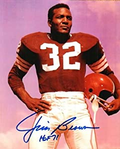 Autographed Hand Signed Jim Brown 8x10 Photo Cleveland Browns by Hall of Fame Memorabilia