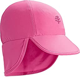 Coolibar UPF 50+ Baby Splashy All Sport Hat - Sun Protective (6-12 Months - Aloha Pink)