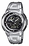 Casio AQF-102WD-1BVEF Men's Analog and Digital Quartz Multifunction Watch with Steel Bracelet