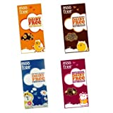 4 x Assorted Moo Free Bars 100g Dairy Free Milk Chocolate (Milk, Caramelised Hazelnuts, Cranberry Hazelnuts & Banana)