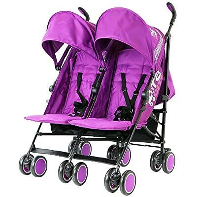 Zeta Citi TWIN Stroller Buggy Pushchair - Plum (Purple) Double Stroller from Baby TravelTM