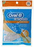 Oral B Complete Floss Picks, Mint Flavor, 75 Count