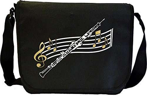 Oboe Curved Stave - Sheet Music Document Bag Borsa Spartiti MusicaliTee