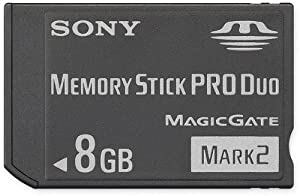 Sony 8 GB Memory Stick PRO Duo Flash Memory Card MSMT8G
