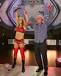 Charlotte & Ric Flair WWE Action Photo (Size:16\