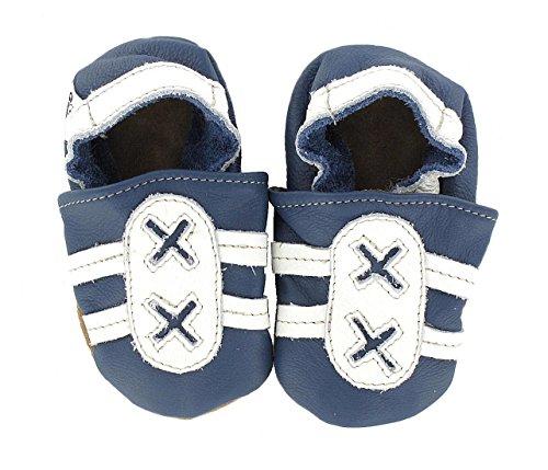 Chaussures premiers pas / Chaussons Bébé en cuir doux - sneaker \